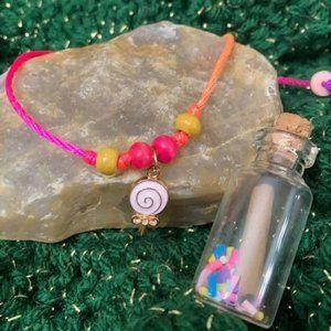Sweet message bottle bracelet set